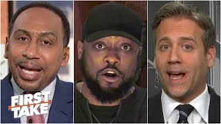 First Take reacts to Mike Tomlin's comments on the Myles Garrett-Mason Rudolph brawl