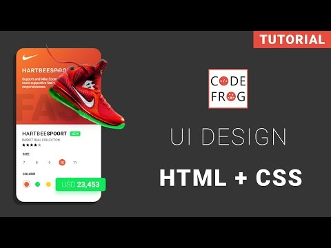 UI Design Tutorial – Product Card | HTML CSS Speed Coding