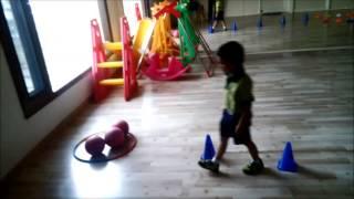 Nursery kids doing Gross motor activity