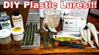 How to Make Soft Plastic Fishing Lures!!!