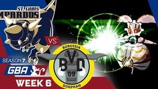 Donphan  - (Pokémon) - WHIPPED! St. Louis Rampardos VS Borussia Donphan Week 6 GBA S7 | Pokemon Sun Moon WiFi
