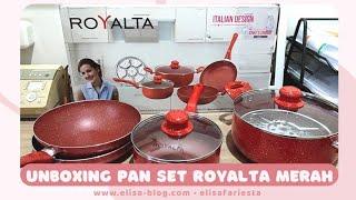 Unboxing Royalta Pan 7 Set warna Merah. Isinya Apa Saja Ya? Cekidot!