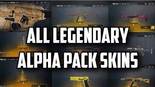 Rainbow Six Siege All Alpha Packs Legendary Skins [Weapons, Head Gear, Charms]