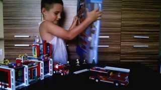 Lego City 7208 Fire Station - Tűzoltóállomás play instruction