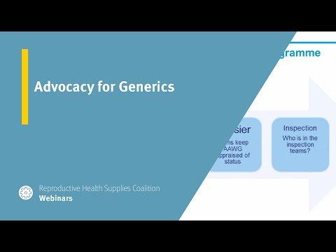 Advocacy for Generics