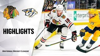 NHL Highlights | Blackhawks @ Predators 10/29/19