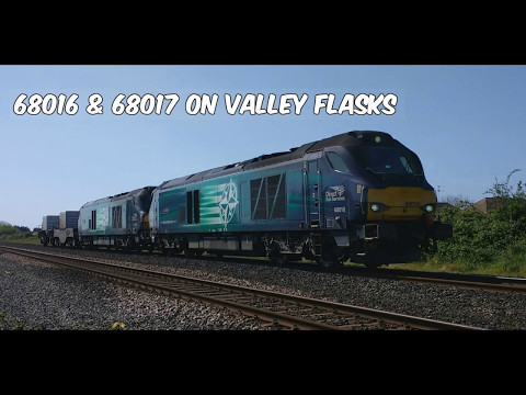 DRS 68016 'Fearless' and 68017 'Hornet' pass Prestatyn with …