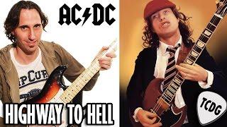 Como Tocar Highway To Hell En Guitarra Eléctrica Fácil Para Principiantes (Ac/dc) Tutorial 1/2 TCDG