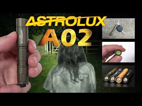 ASTROLUX A02 mini AAA flashlight review