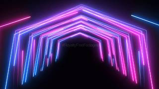 neon background animation | neon multicoloured lines background looped animation | Royalty Free