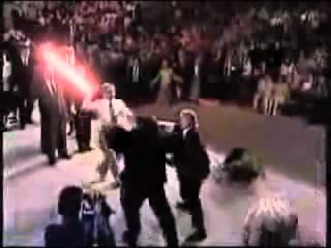 Sith Lord Pastor teaches his subordinates a lesson.