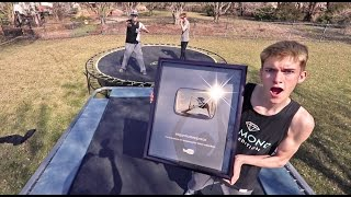 TRAMPOLINE VS GOLD YOUTUBE PLAY BUTTON!