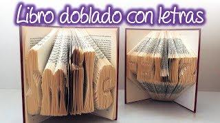 Libro Doblado Con Letras, Folded Book With Letters