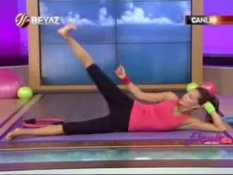 Ebru Şallı Basen Eritme ve Göbek Zayıflama Hareketleri Pilates Egzersizleri Video İzle sağlık videol