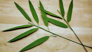 DIY Easy Crepe Paper Bamboo Leaves