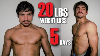 Extreme Water Cut | 20lbs in 5 Days | Drug Free