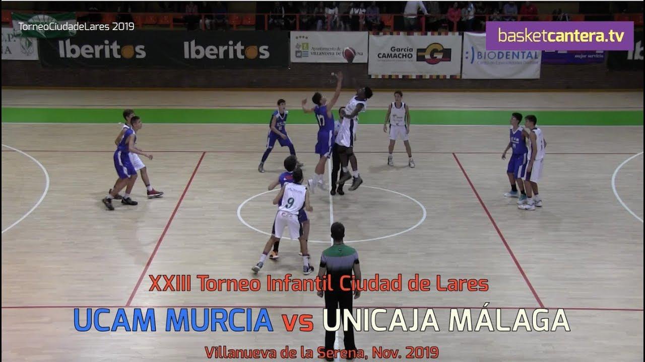 U14M - UCAM MURCIA vs UNICAJA MÁLAGA.- Torneo  Infantil Ciudad de Lares 2019 (BasketCantera.TV)
