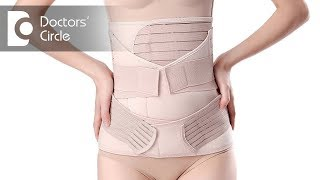 When can one wear a postpartum belly belt? - Dr. Punitha Rangaraj