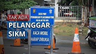 Check Point PSBB Halte Adam Malik Ciledug Tak Ada Pelanggar SIKM