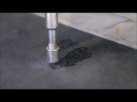 LABJET Leather cutting with pure water