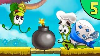 Несносный УЛИТКА БОБ 3. Серия 5. Забавная игра Snail Bob 3 от Игрули TV