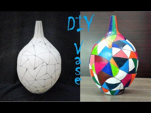 How to make a vase - DIY Craft Flower Vase