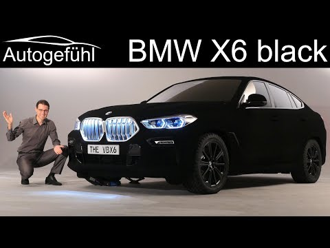 all-new BMW X6 Exterior Preview G06 2020 with Vantablack special paint- Autogefühl