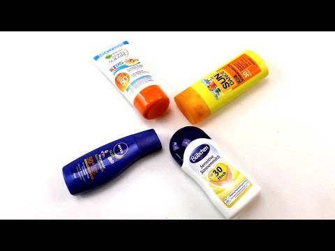 Sonnencreme test - Kids Sonnencremes im Test: dm, Bübchen, Nivea, Garnier Ambre Solaire