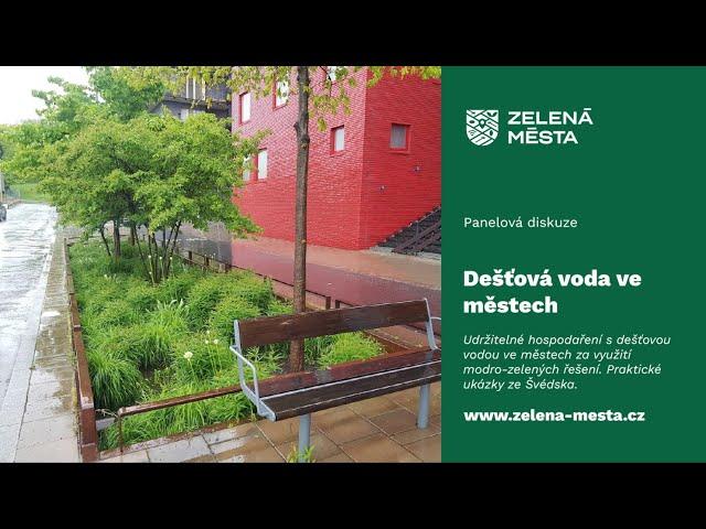 Udržitelné hospodaření s dešťovou vodou ve městech za využití modro-zelených řešení