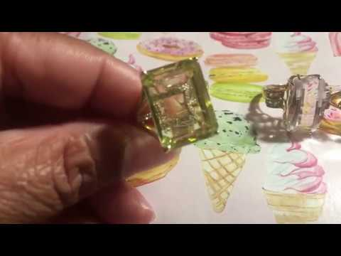💎 💍  RING COLLECTION/ FLOATING GEMSTONE JEWELRY 💎 💍