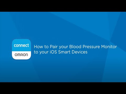 OMRON connect US/CAN App iOS Pairing Video