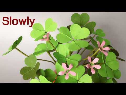 ABC TV | How To Make Three Leaf Clover With Shape Punch (Slowly)- Craft Tutorial