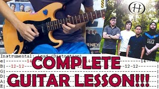 Blue Sky   Hale (Complete Guitar LessonCover)with Chords And Tab