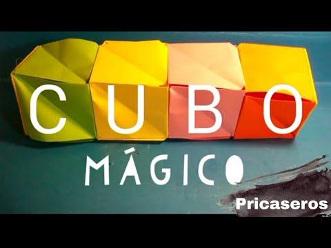 Cubo Mágico • Origami • Pricaseros