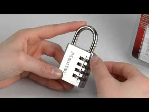 Screen capture of Operating the Master Lock 643DWD Password Combination Lock