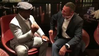 Legendary Lennox Lewis and Vitali Klitschko on September 06, 2018 in London, England!