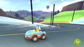 Garfield Kart PC 100cc HamBurger Cup Gameplay