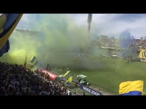 """""""""""Recibimiento"""" - Rosario Central (Los Guerreros)  vs Pinguino Hijo Gil Robado"""" Barra: Los Guerreros • Club: Rosario Central"""