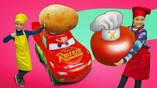Челлендж с Молния Маквин - Я готовлю лучше! Смешное видео для детей.