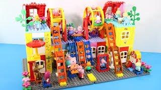 Peppa Pig Blocks Mega House Toys For Kids - Lego Duplo House Building Toys #8