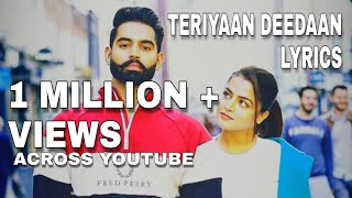 Teriyaan Deedaan lyrics song | Dil Diyan Gallan | Prabh Gill | Parmish Verma |