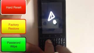 Motorola MC65 Hard Reset video - with micro sd card - VidInfo