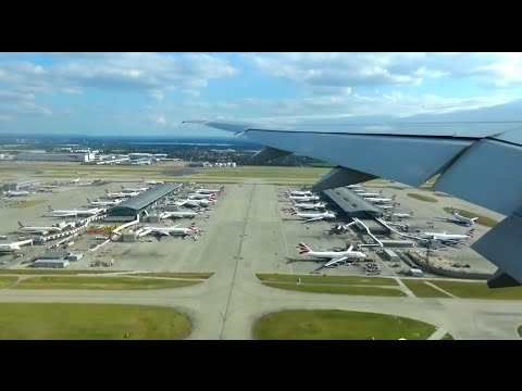 American 777-300ER incredible takeoff from London Heathrow! Pushback and taxi included!