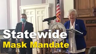 Alabama Governor issues statewide mask mandate