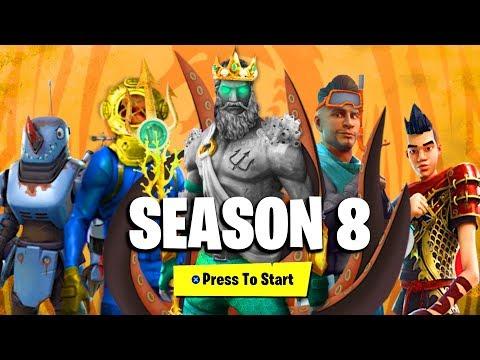 Season 8 Battle Pass Unlocked In Fortnite Gamewatchable Video