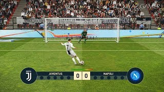 PES 2019   JUVENTUS vs NAPOLI   Penalty Shootout   Gameplay PC