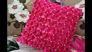 DIY Cushion Covers  How To Make A Pillow & Cushion Covers-Canadian Smocking Four Point Flower Design