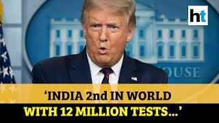US leading the world in Covid-19 testing, India second: Donald Trump - Download this Video in MP3, M4A, WEBM, MP4, 3GP