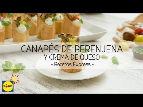 Canapés de Berenjena y Crema de Queso - Recetas Express