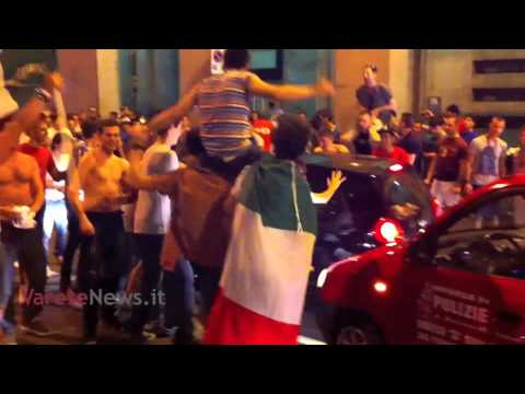 Italia in semifinale: festeggiamenti pazzi